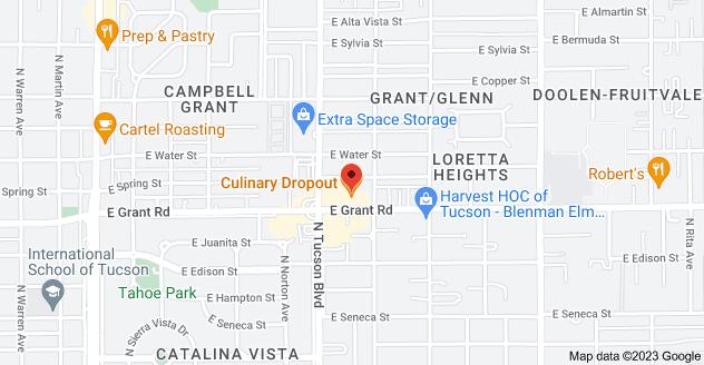 Map of 2543 E Grant Rd, Tucson, AZ 85716