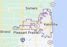Map of Kenosha, Wisconsin