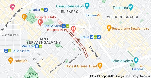 Mapa de Carrer d'Alfons XII, 08006 Barcelona, España