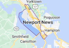 Map of Newport News