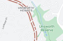 Location of Unsworth Drive