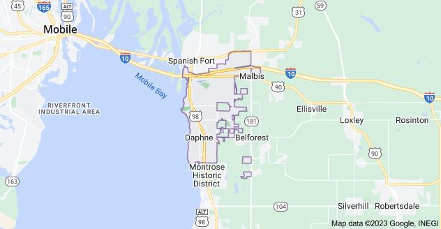 Map of Daphne, AL