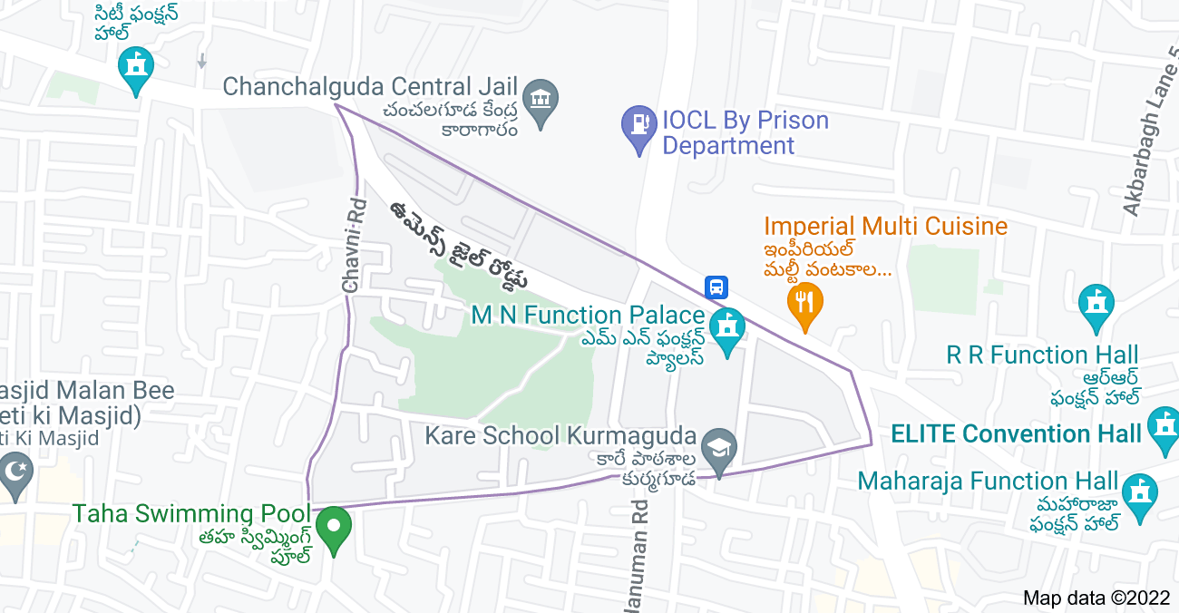 Map of Kurmaguda, Hyderabad, Telangana, India