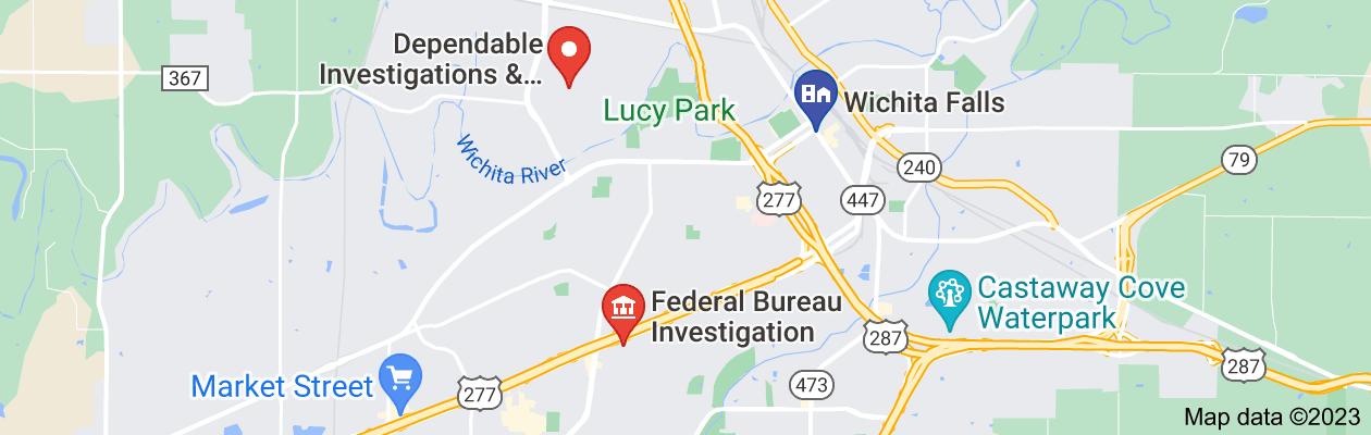 Map of private investigator wichita falls tx