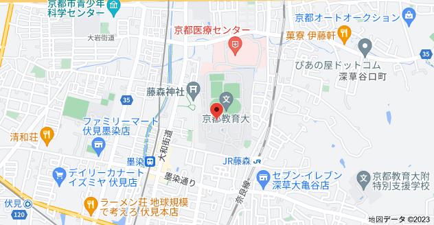 〒612-0863 京都府京都市伏見区深草藤森町1の地図