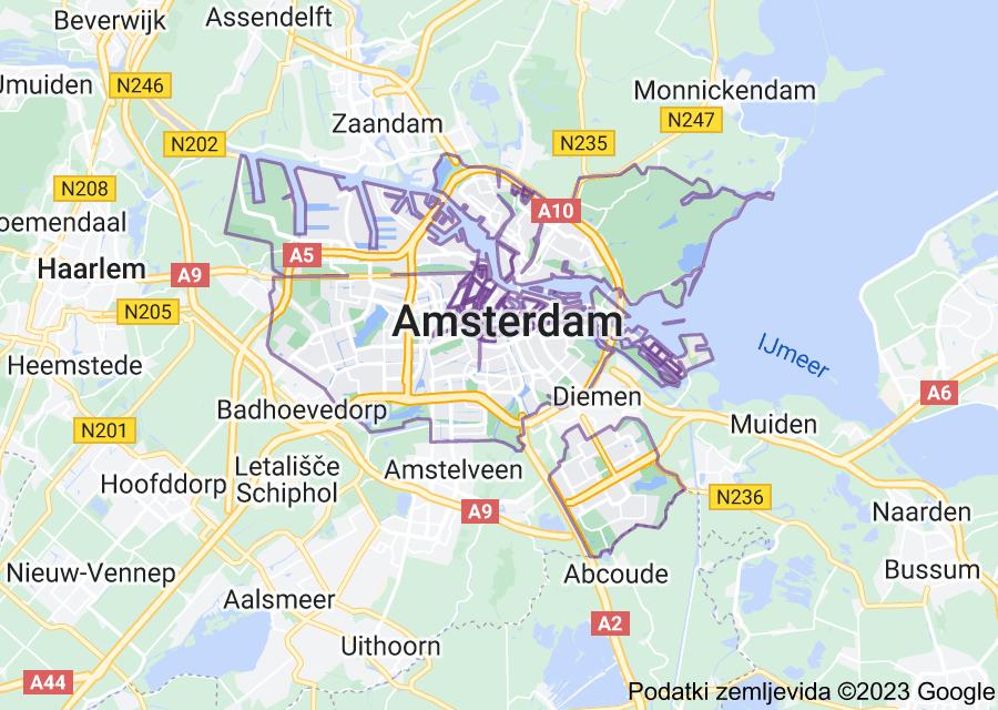 Location of Amsterdam