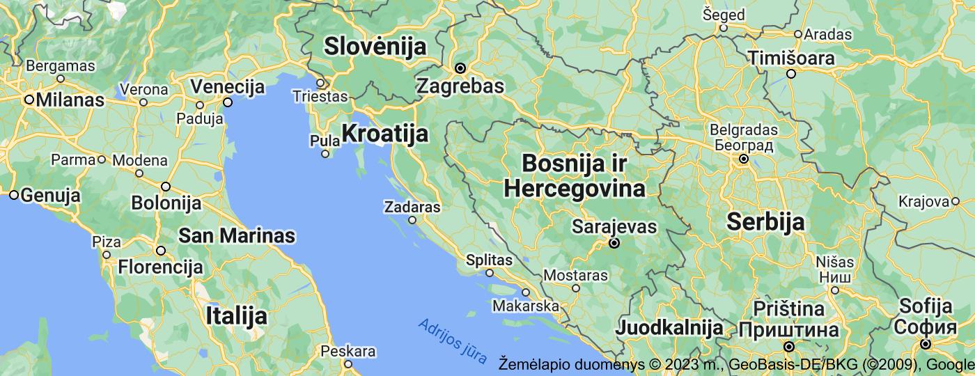 Location of Kroatija