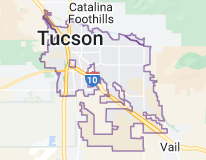 Map of Tucson, Arizona