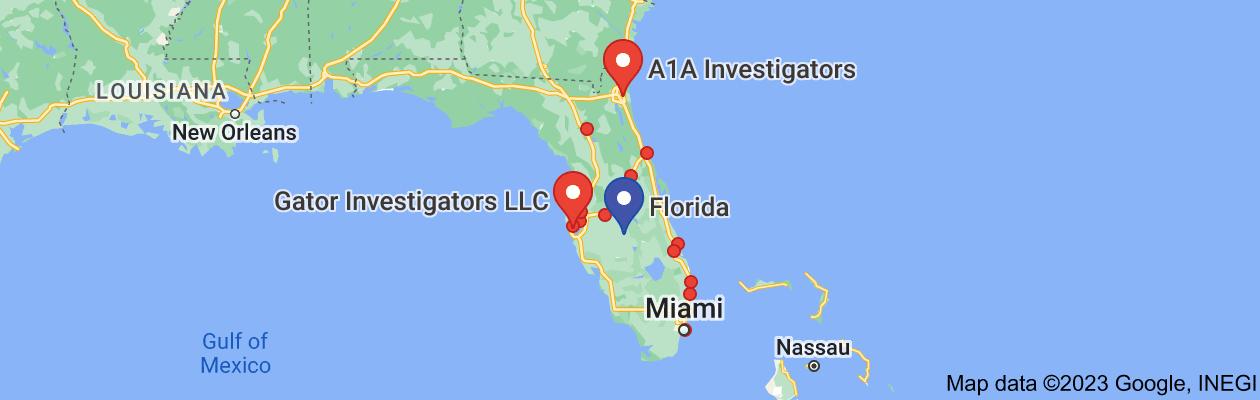 Map of private investigator florida