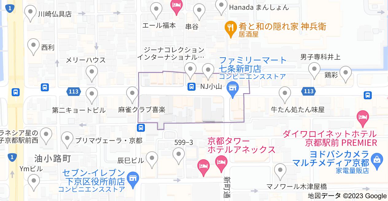 〒600-8310 京都府京都市下京区夷之町の地図