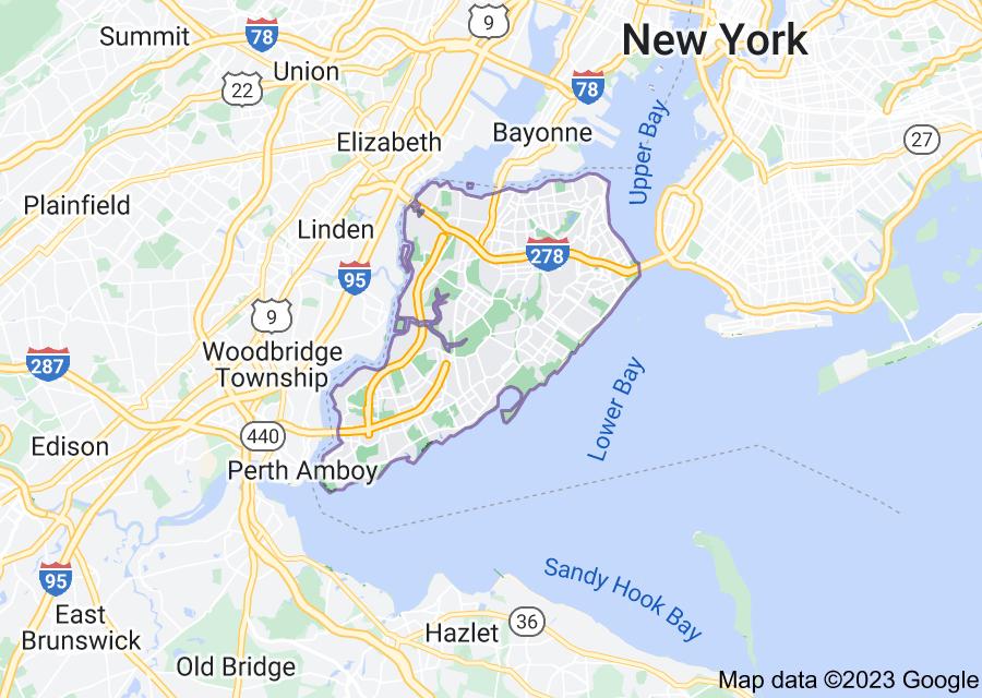 Location of Staten Island