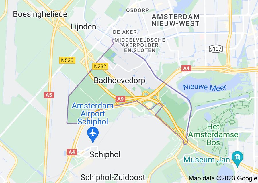 Location of Badhoevedorp