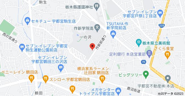〒320-0047 栃木県宇都宮市一の沢1丁目1−41の地図