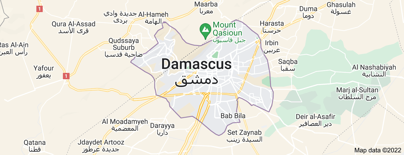 Location of Damascus