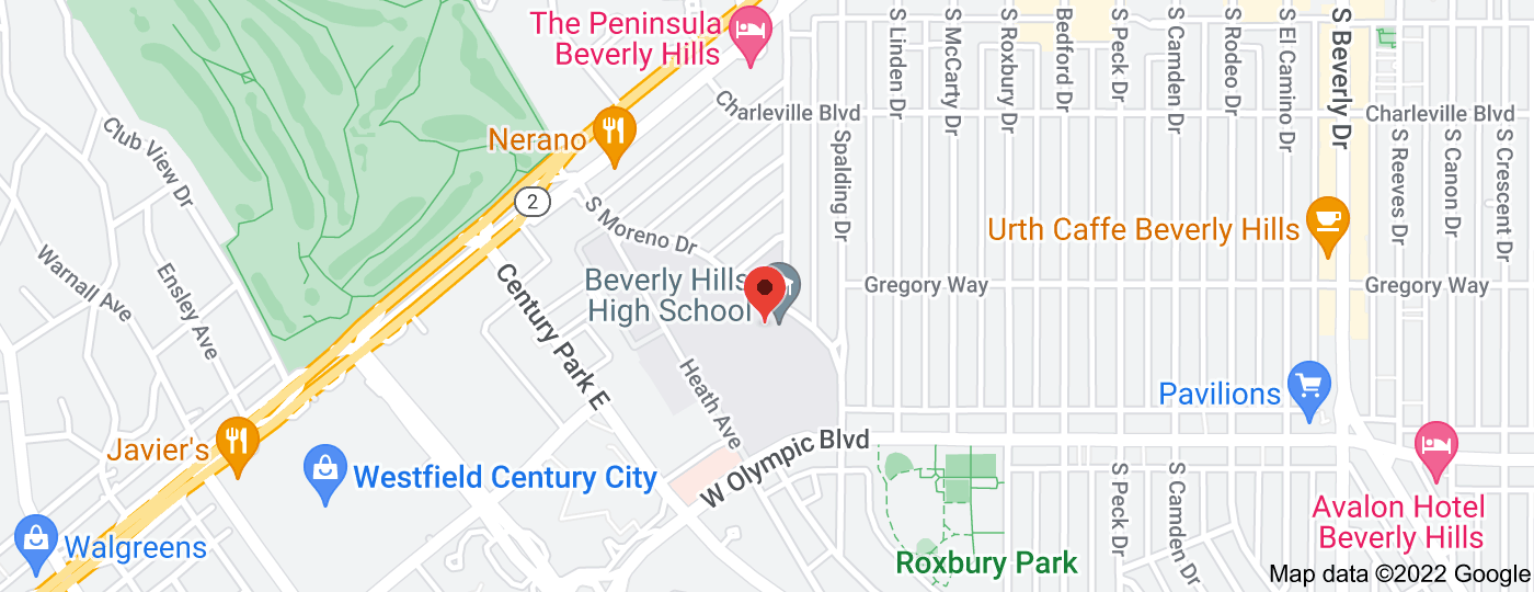 Location of Beverly Hills High School
