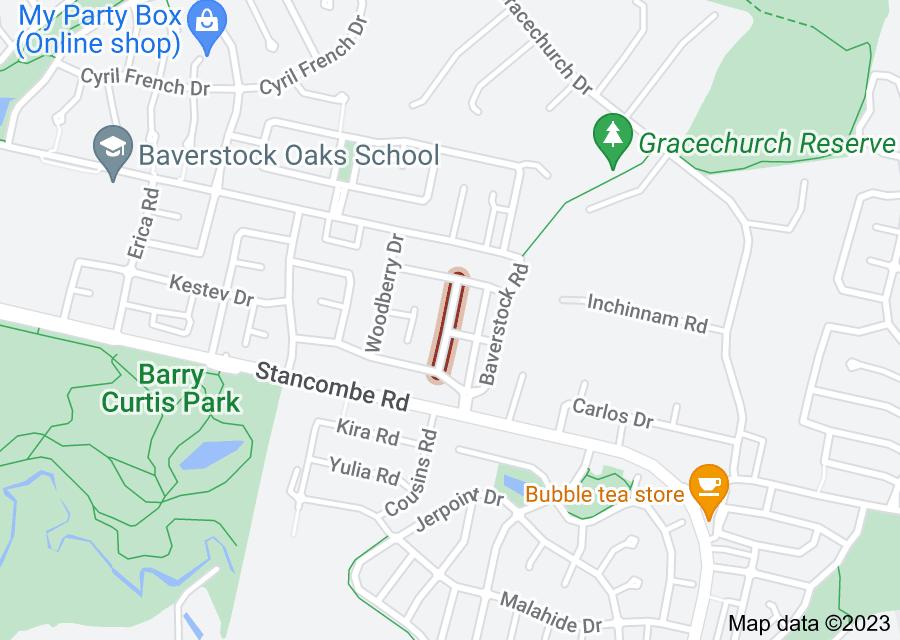 Location of Greenbrooke Drive