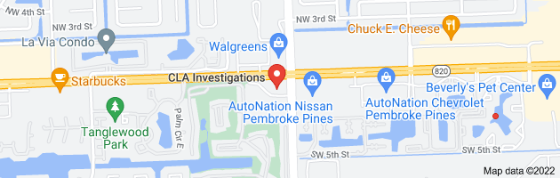 Map of private investigators pembroke pines florida