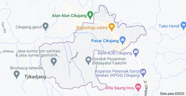 Peta Cikajang, Kabupaten Garut, Jawa Barat