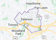 Map of Paterson, New Jersey