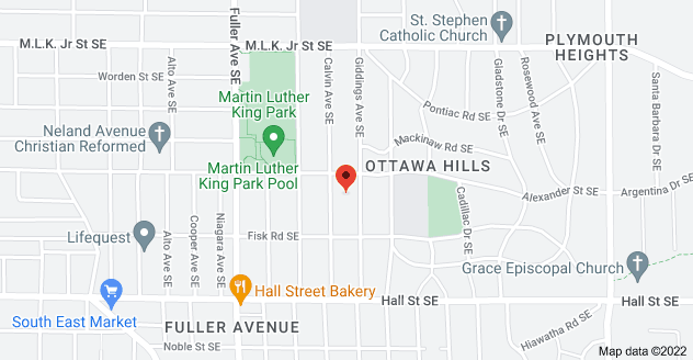 Map of 1005 Giddings Ave SE, Grand Rapids, MI 49506