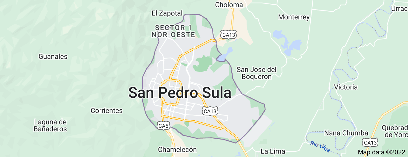 Location of San Pedro Sula