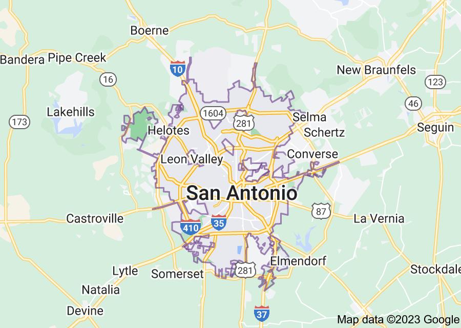 Location of San Antonio