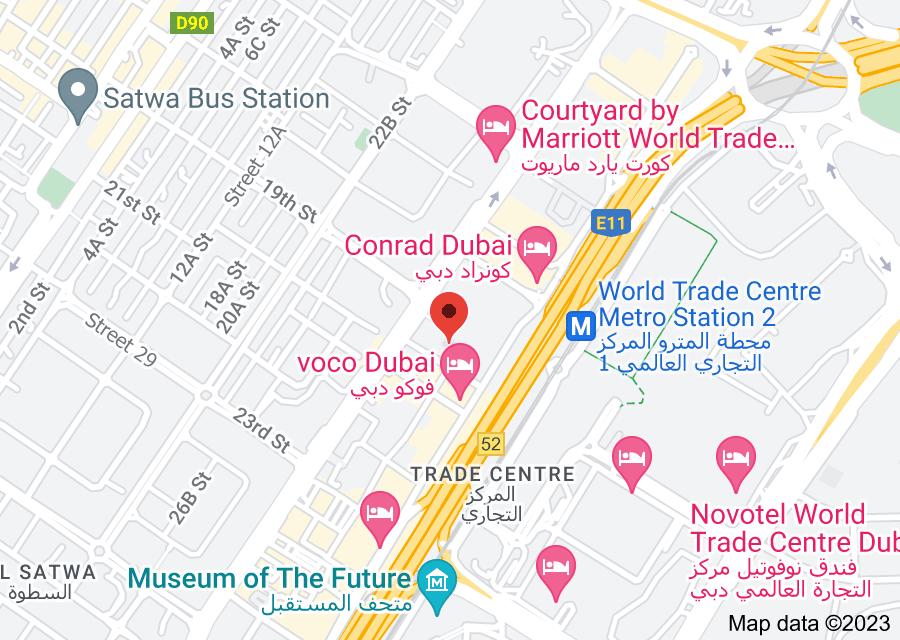 Location of voco Dubai