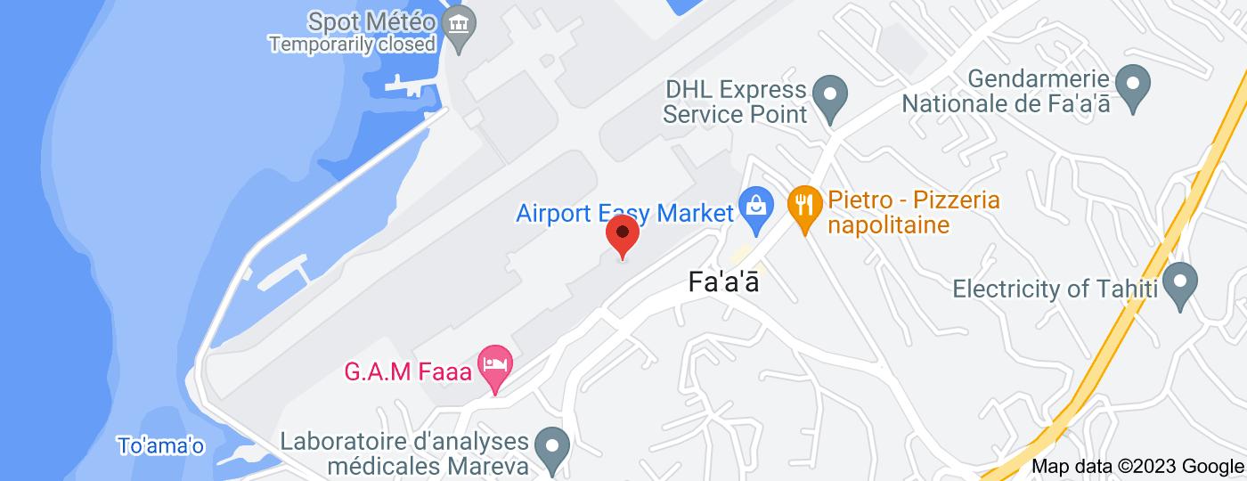 Location of Fa'a'ā International Airport