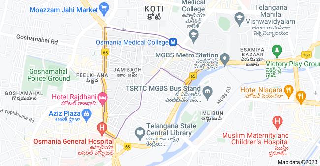 Map of Jam Bagh, Hyderabad, Telangana, India
