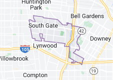 Map of South Gate, California