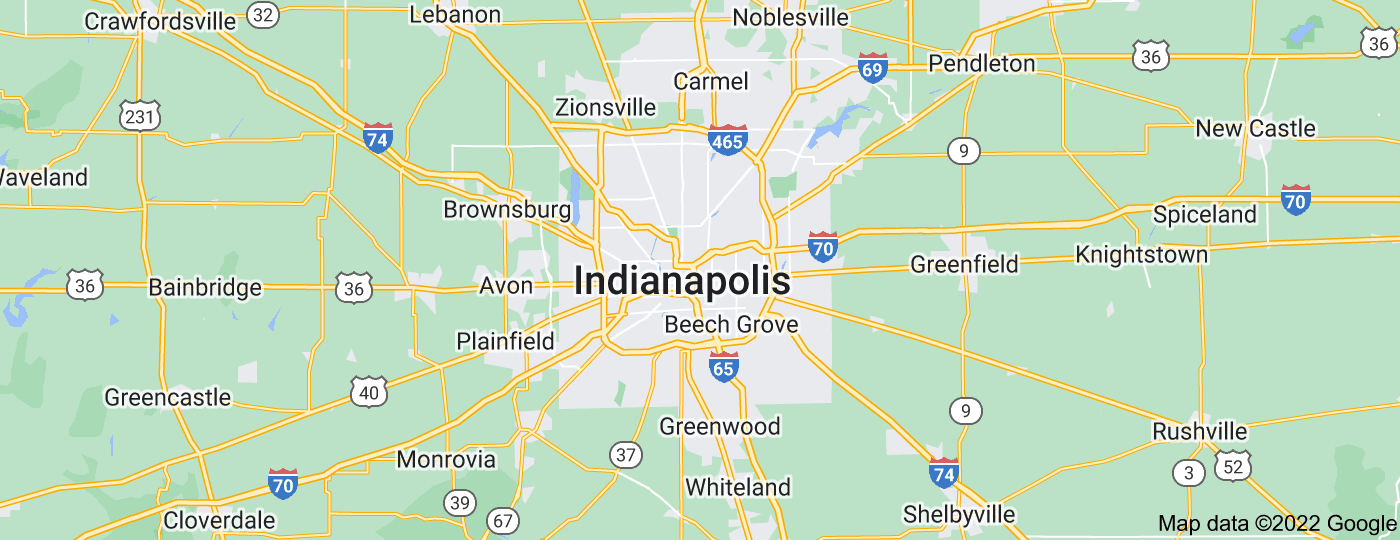 Location of Indianapolis