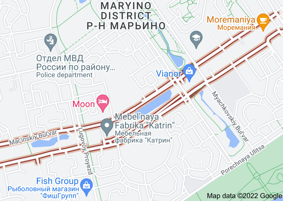 Location of Mar'inskiy Bul'var