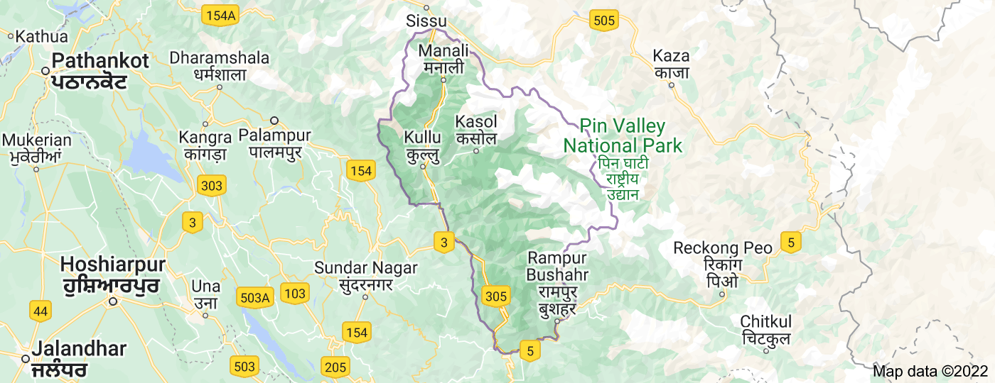 Location of Kullu district