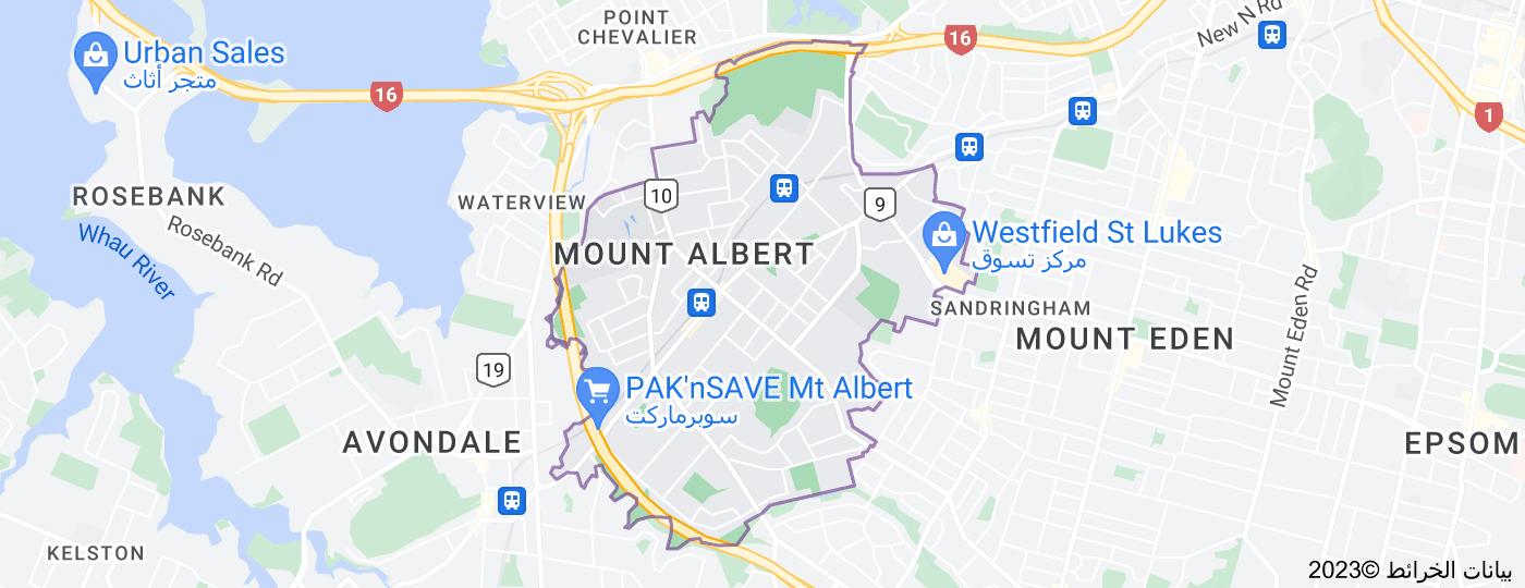 Location of Mount Albert, New Zealand