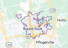 Map of Round Rock, Texas