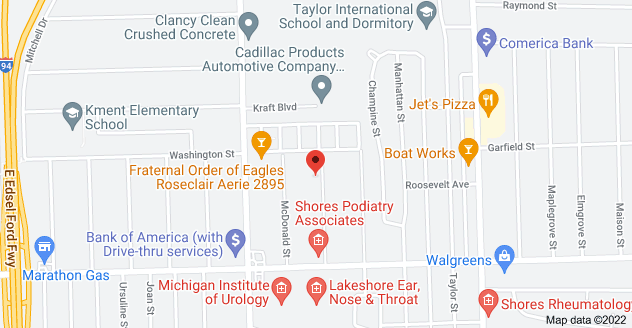 Map of 29303 Rymal St, Roseville, MI 48066
