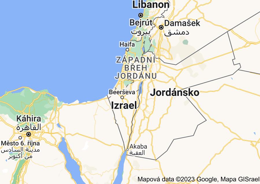 Location of Izrael
