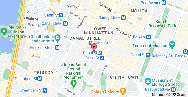 Map of 84 Walker St, New York, NY 10013