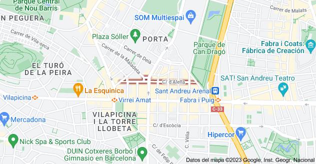 Mapa de Calle de Alella, 08016 Barcelona, España