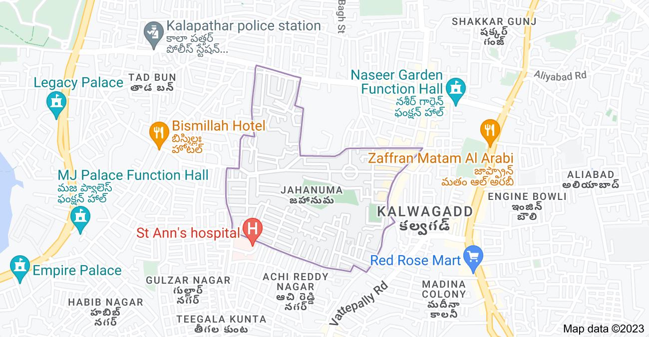 Map of Jahanuma, Nawab Saheb Kunta, Hyderabad, Telangana 500053, India