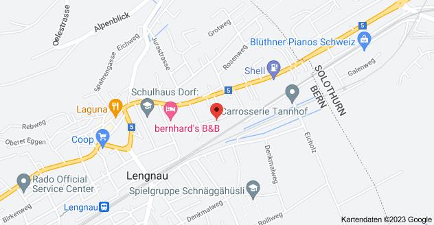 Karte von Lerchenweg 18, 2543 Lengnau