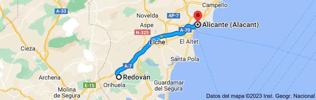 Mapa de Redován, 03370, Alicante a Alicante (Alacant), Alicante