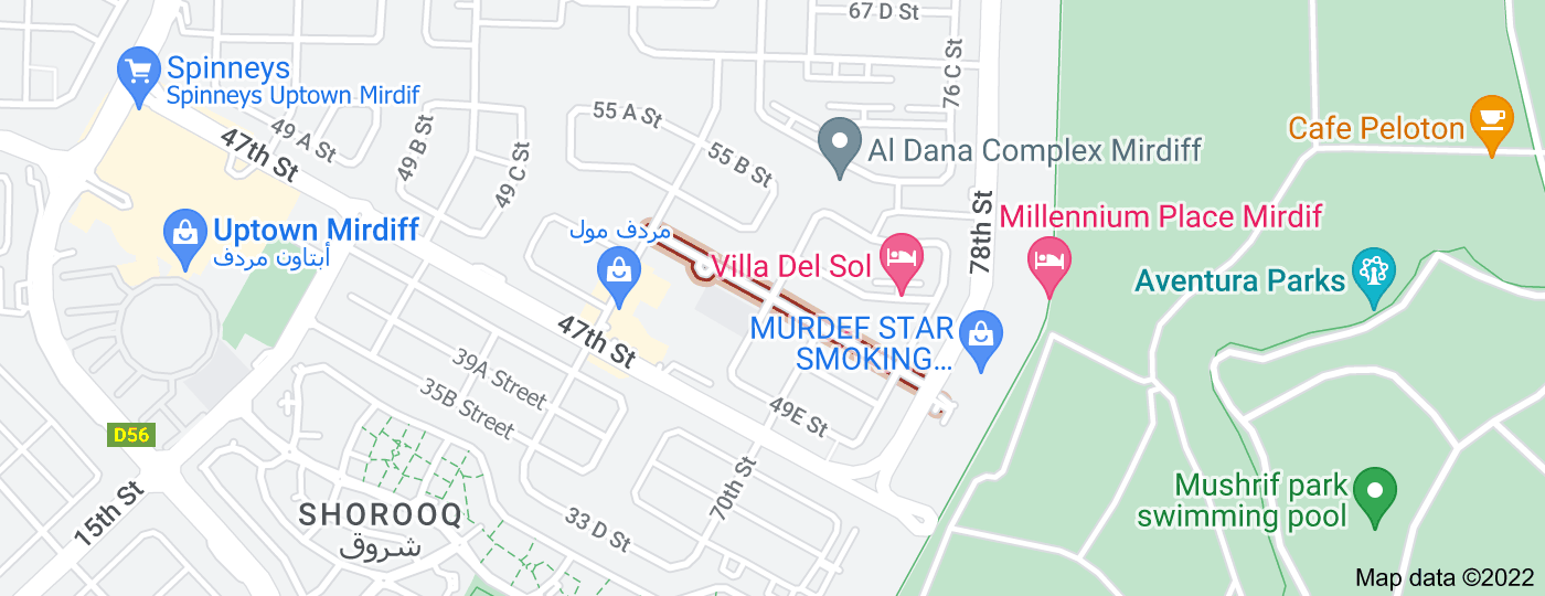 Location of 53rd Street