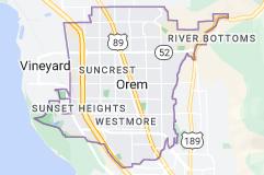 Map of Orem, Utah