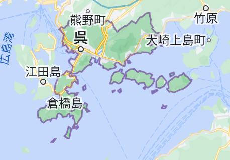 呉市の地図