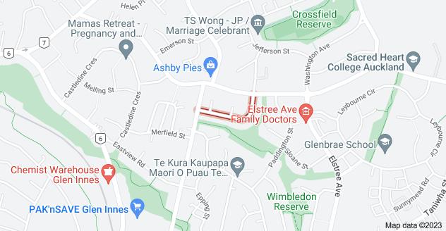 Location of Weybridge Crescent