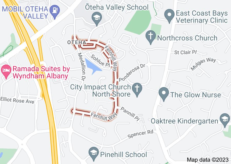 Location of Fernhill Way