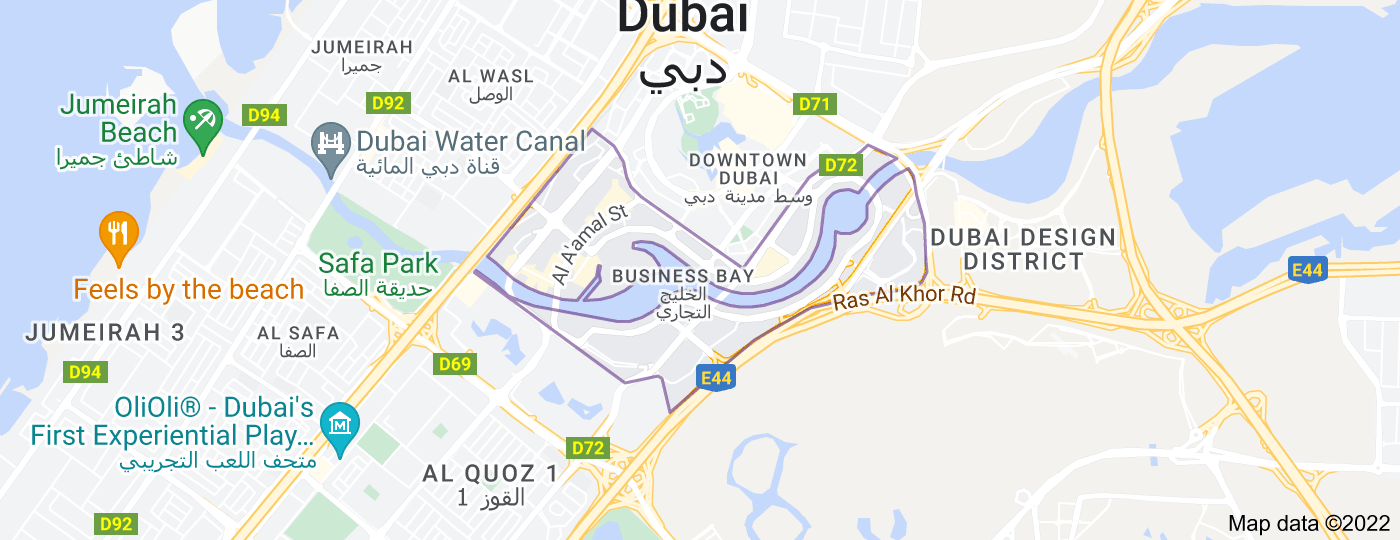 Location of Business Bay