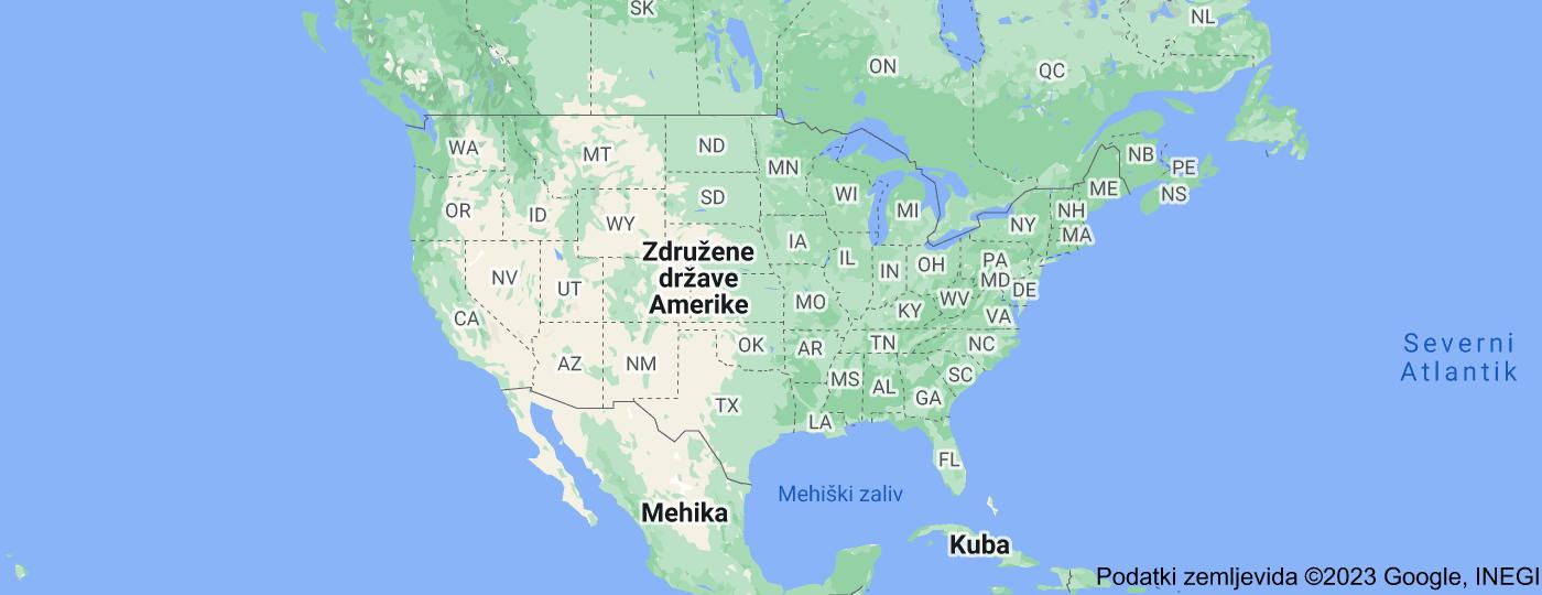 Location of Združene države Amerike