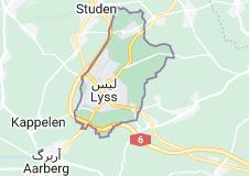 نقشه لیس Aarberg District, سوئیس